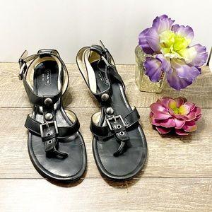 Coach Viktoria Sandals Black Flats Size 8.5B